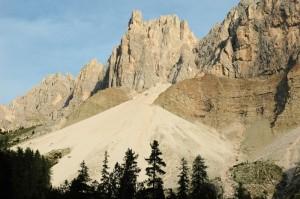 Schutthalde im Hochgebirge