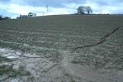 Niederschlagswasser mit tiefen Rinnen