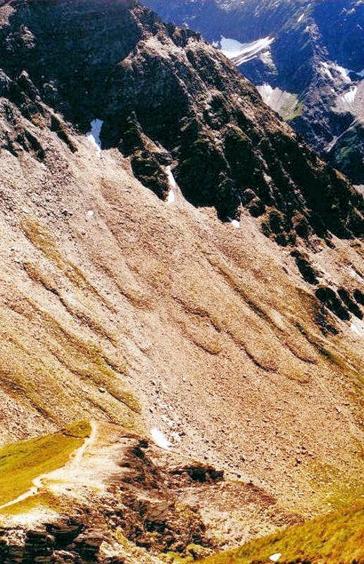 Solifluktion im Hochgebirge