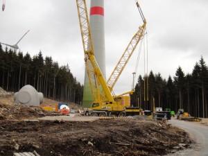 Baustelle für Windindustrie
