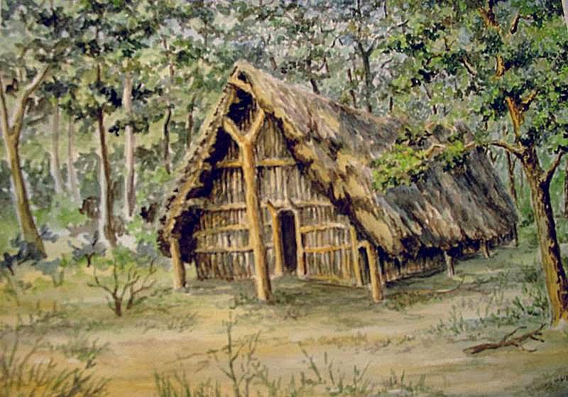 Jungsteinzeitliches Langhaus