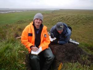 Permafrostexperte Dr. Guido Grosse (links)