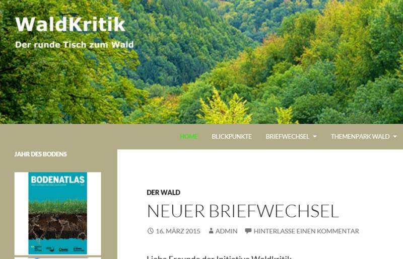 """""""Waldkritik – Der runde Tisch zum Wald"""""""