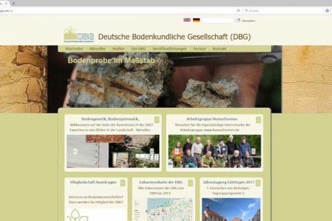 Neue Internetseite der Deutschen Bodenkundlichen Gesellschaft (DBG)