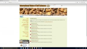 Internetseite der International Union of Soil Sciences