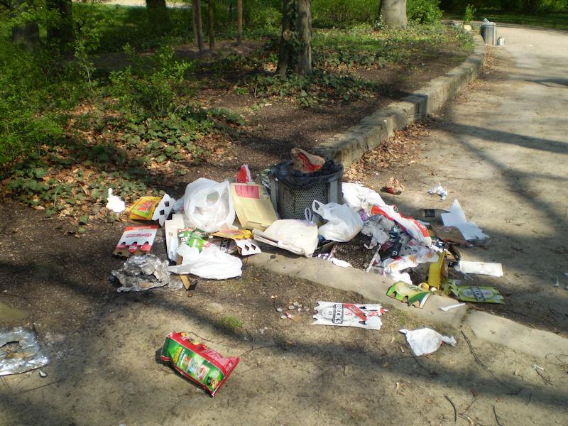 Plastik im Müll