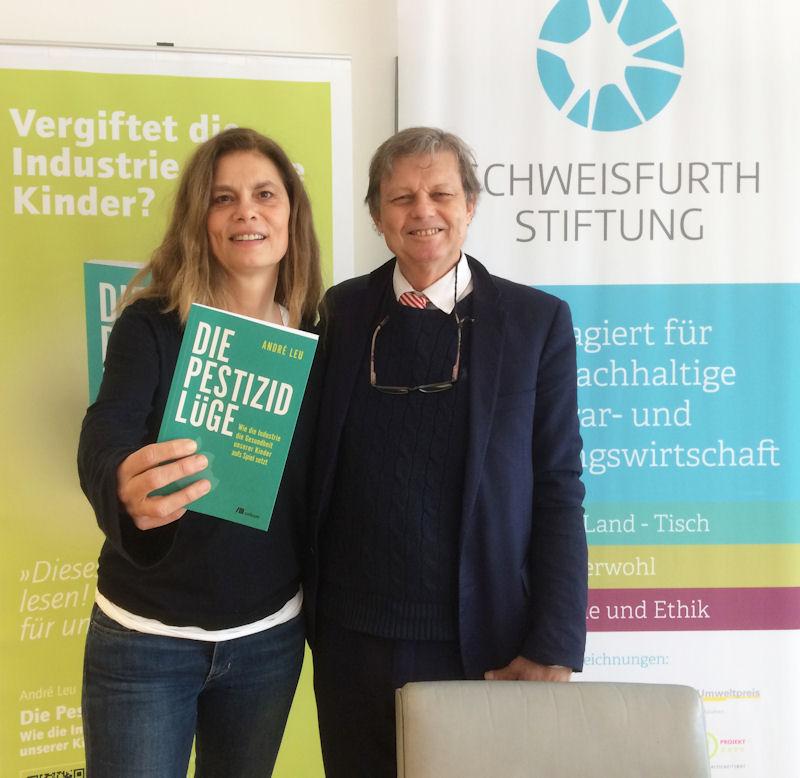 Autor André Leu und Köchin Sarah Wiener